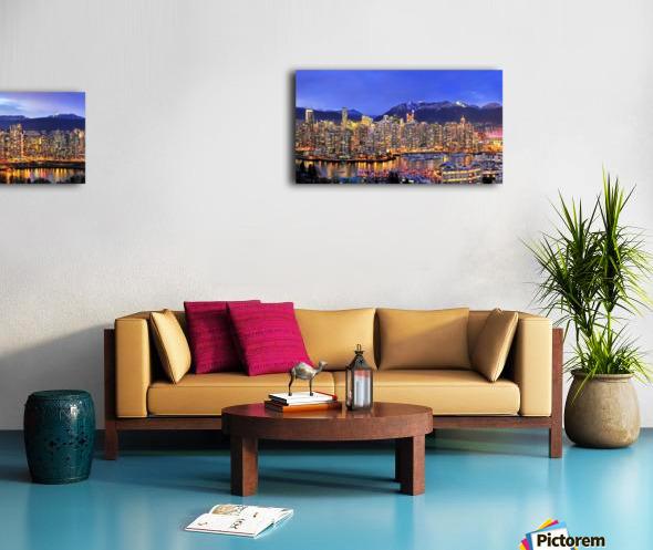 Vancouver Skyline Panorama Canvas print