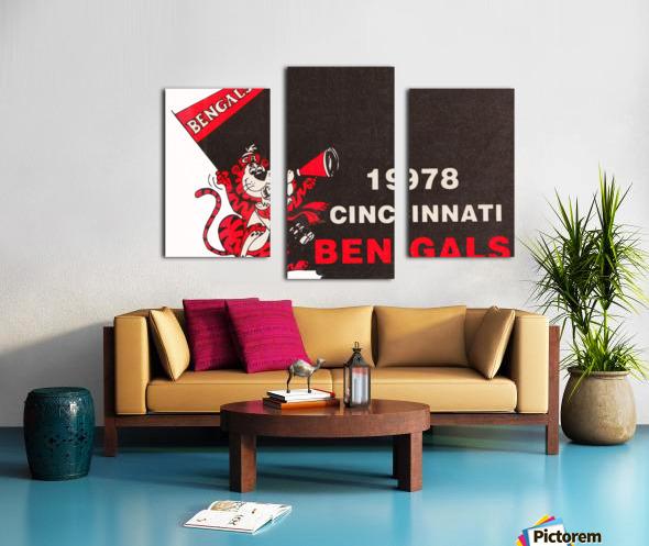 1978 Cincinnati Bengals Poster   Canvas print