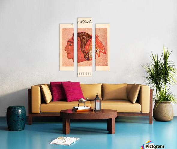 1965 Chicago Black Hawks Art Canvas print
