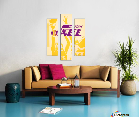 1980 Utah Jazz Retro Basketball Art Canvas print