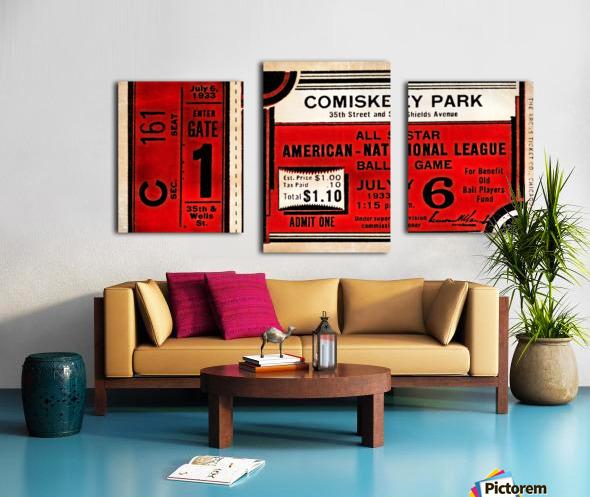 1933 Comiskey Park All-Star Game Ticket Art Canvas print