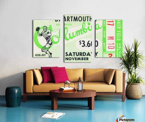 1949 Dartmouth vs. Columbia Canvas print