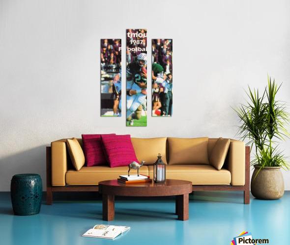 1987 Dartmouth Big Green Football Poster Canvas print