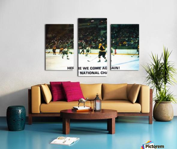 1987 University of North Dakota Hockey Canvas print