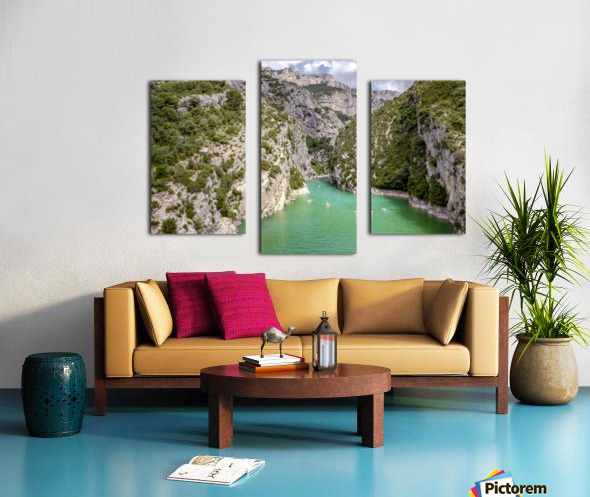 Les Gorges du Verdon Canvas print