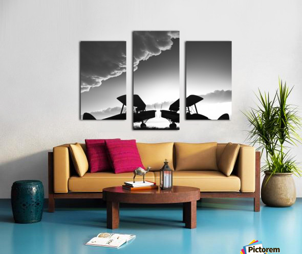 Biplanes Face Off Canvas print