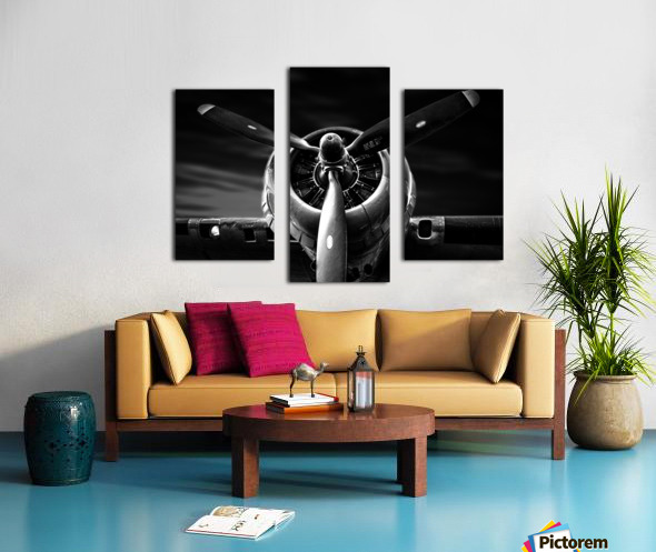 Wright Cyclone Boeing B17 Canvas print