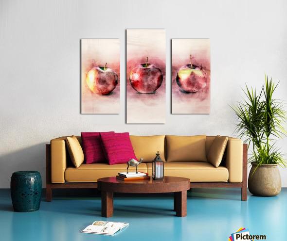 Three Apples Canvas print