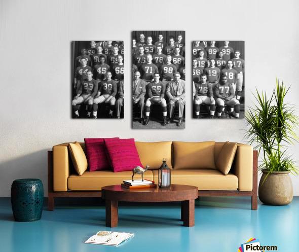 1954 University of Michigan Football Team Photo Canvas print