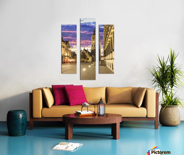 Sunset in Belgium Canvas print