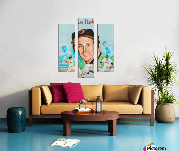 1974 Brooks Robinson Poster Canvas print