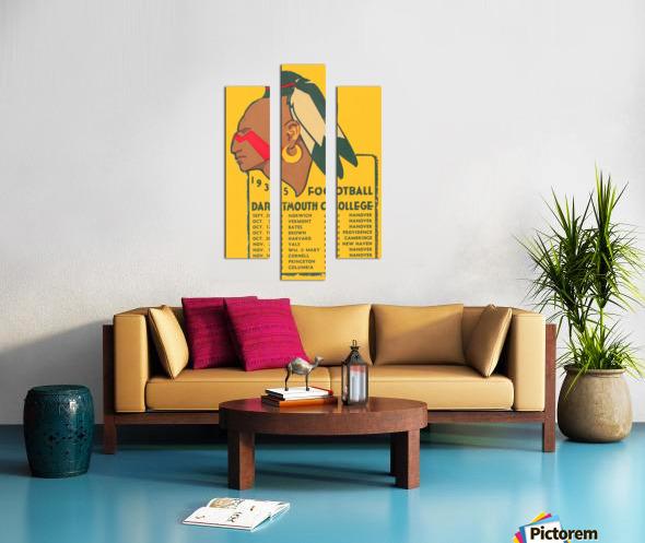 1935 Dartmouth Indians Football Poster Canvas print