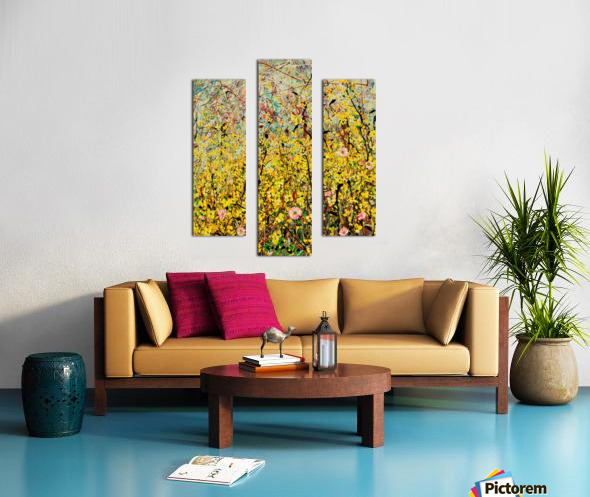 Symphony in Yellow Panel 2 Canvas print