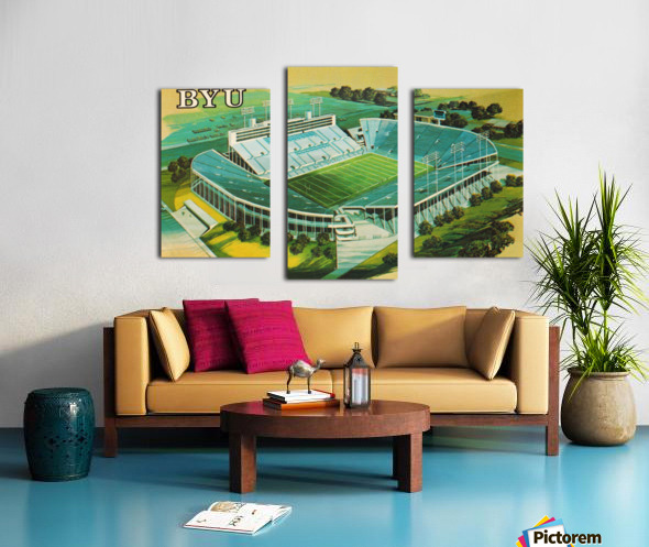 1982 BYU Cougar Stadium Art Canvas print