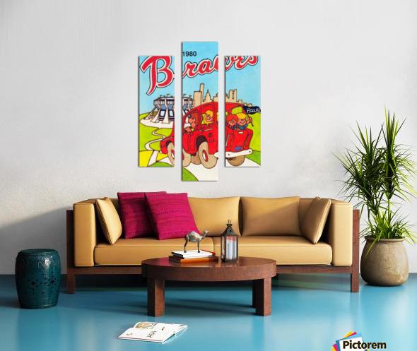 1980 Atlanta Braves Poster Canvas print