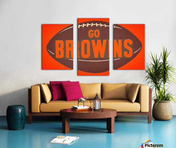 Vintage Cleveland Browns Football Art Canvas print