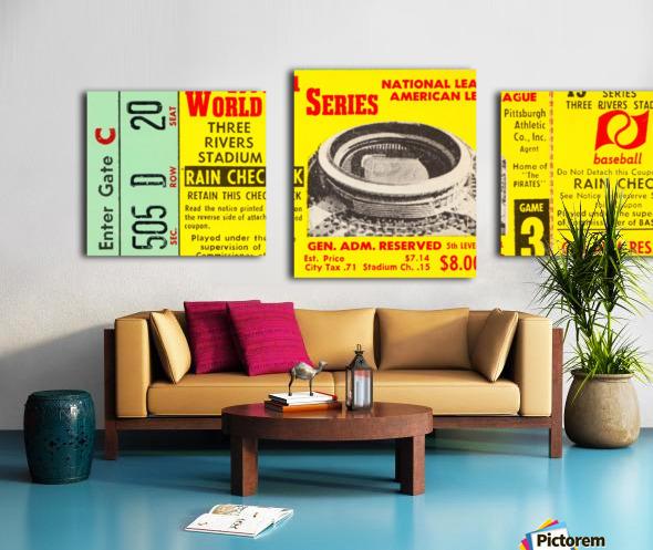 1971 World Series Ticket Stub Wall Art Canvas print