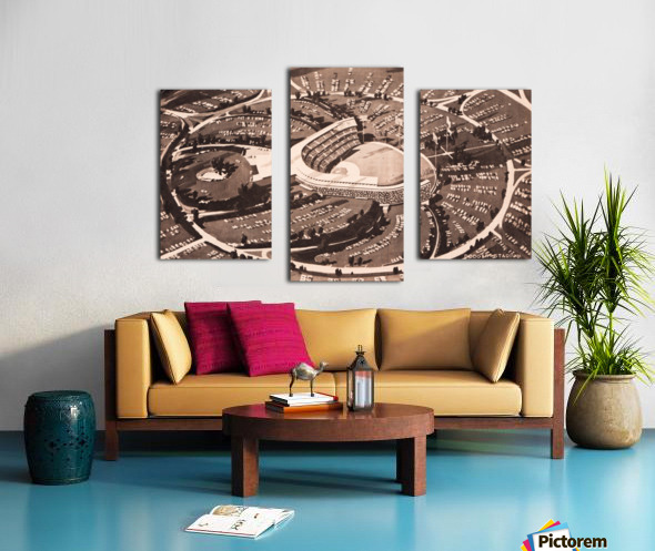 1959 Dodger Stadium Architecture Drawing Canvas print