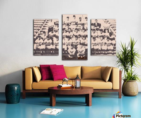 1959 Los Angeles Dodgers Team Photo Canvas print