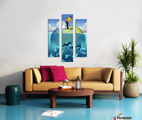 Clean the Planet Canvas print