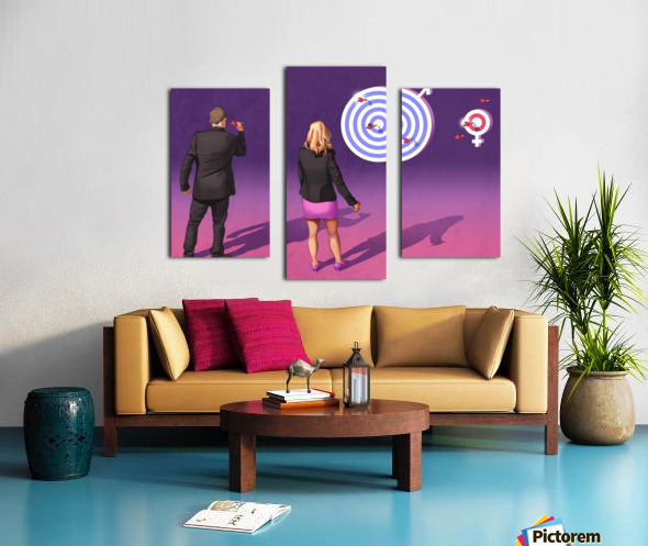 Women and Men Canvas print