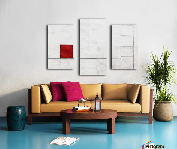 Suprematism is all Around Canvas print