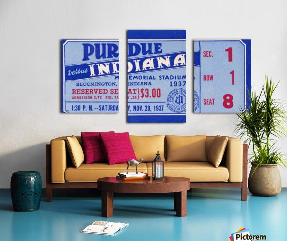 1937 Indiana vs. Purdue Ticket Stub Art Canvas print