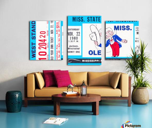 1980 Ole Miss vs. Miss State Football Ticket Stub Art Canvas print