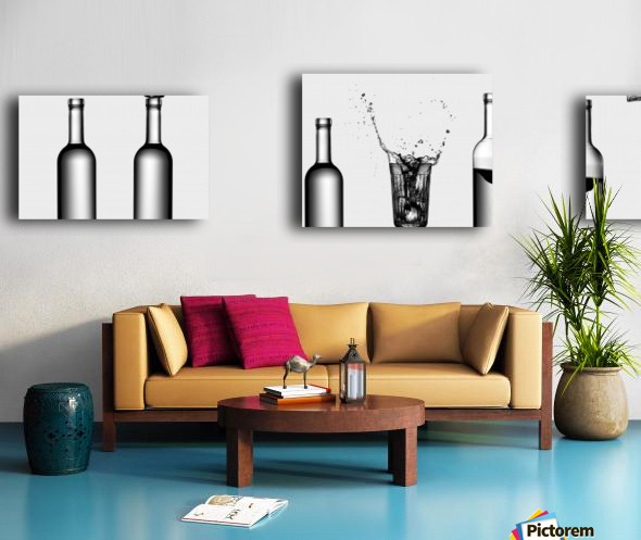 bottles game by Valeriy Kasmasov  Impression sur toile