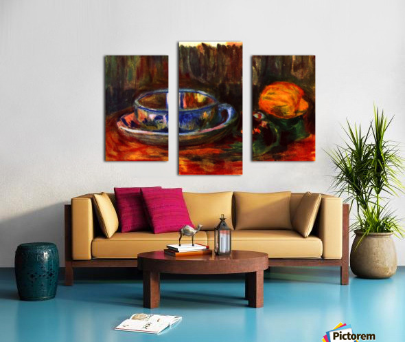 Still life with cup Canvas print