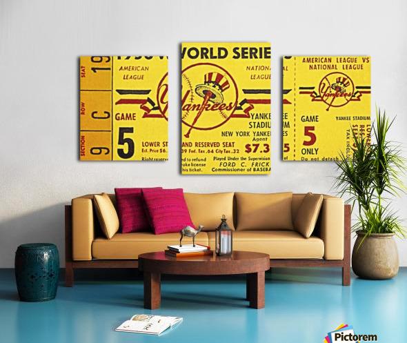 1956 World Series Perfect Game Ticket Stub Art Canvas print