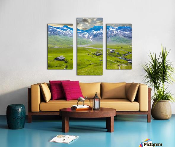 High Alps Village in Spring Switzerland Canvas print