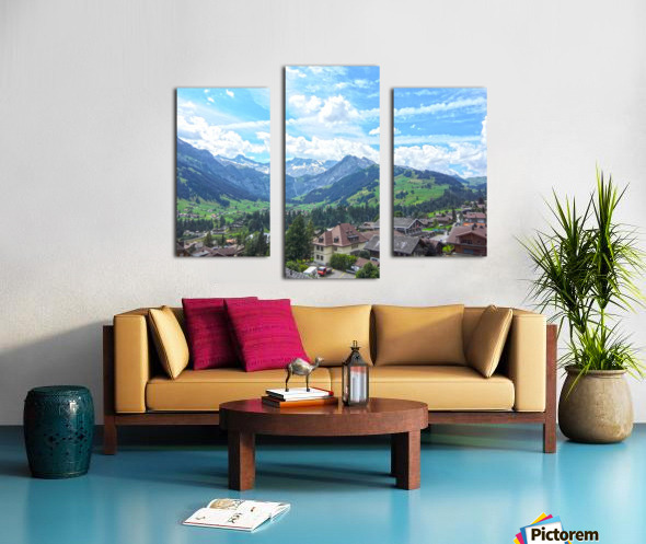 Beautiful Day in the Swiss Alps Canvas print