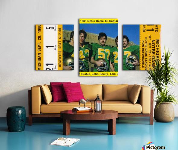 1980 Notre Dame vs. Michigan Canvas print