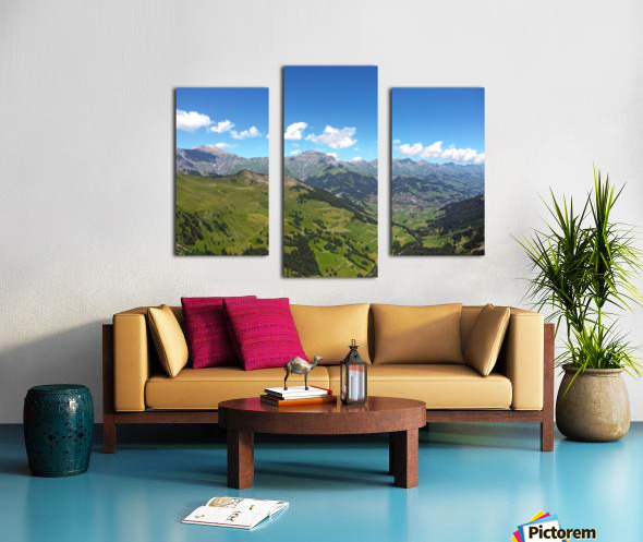 Swiss Highlands View to Forever Canvas print