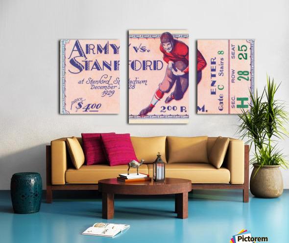 1929 Stanford Football Ticket Stub Art Canvas print