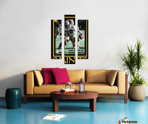 1988 New Orleans Saints Reuben Mayes Poster Canvas print