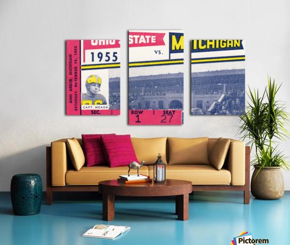 1955 Michigan vs. Ohio State Football Ticket Art Canvas print