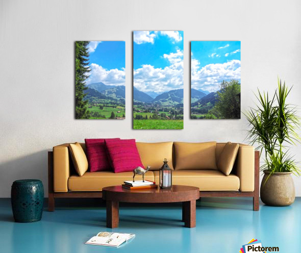 The Last Paradise in a Crazy World Gstaad Switzerland Canvas print