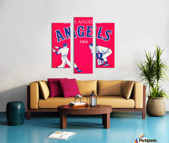 1964 Los Angeles Angels Baseball Art Canvas print