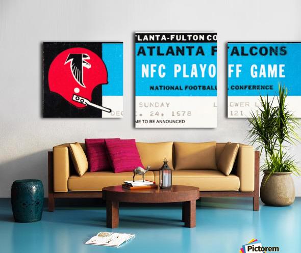 1978 Atlanta Falcons Ticket Stub Art Canvas print