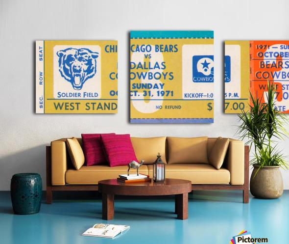 1971 Chicago Bears vs. Dallas Cowboys Ticket Art Canvas print