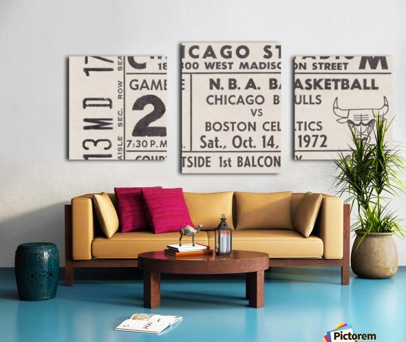1972 Chicago Bulls vs. Boston Celtics Ticket Stub Art Canvas print