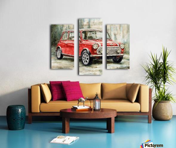 Mini Cooper S 2000 Canvas print