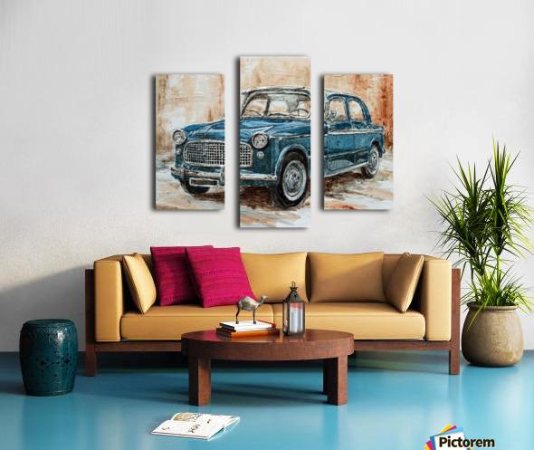 1960 Fiat 1100 103 H Canvas print