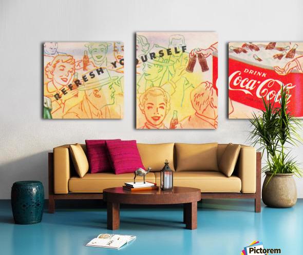 1954 Vintage Coke Ad Canvas print