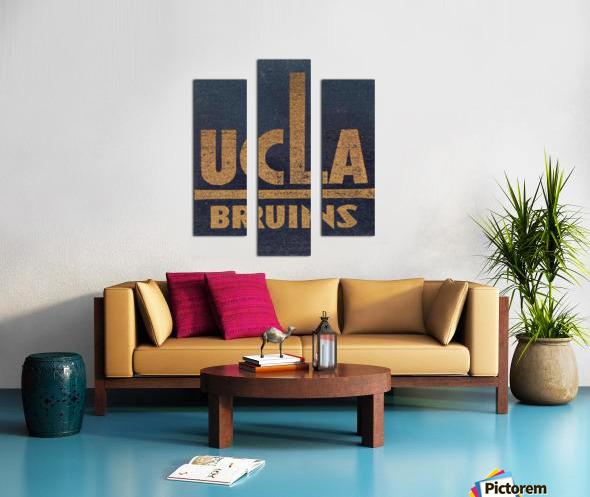 Vintage UCLA Bruins Art Canvas print