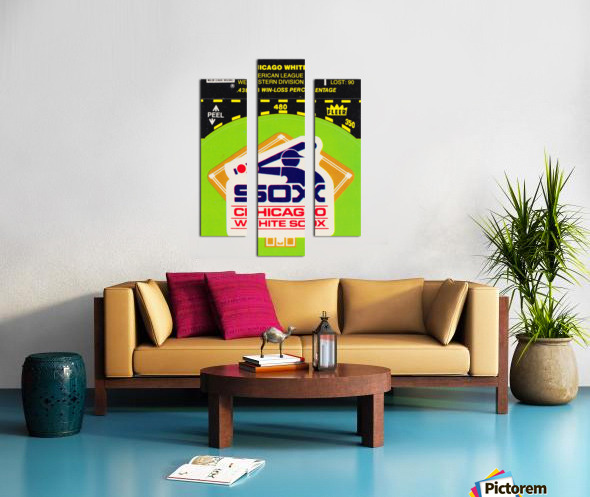 1980 Chicago White Sox Fleer Decal Wall Art Canvas print