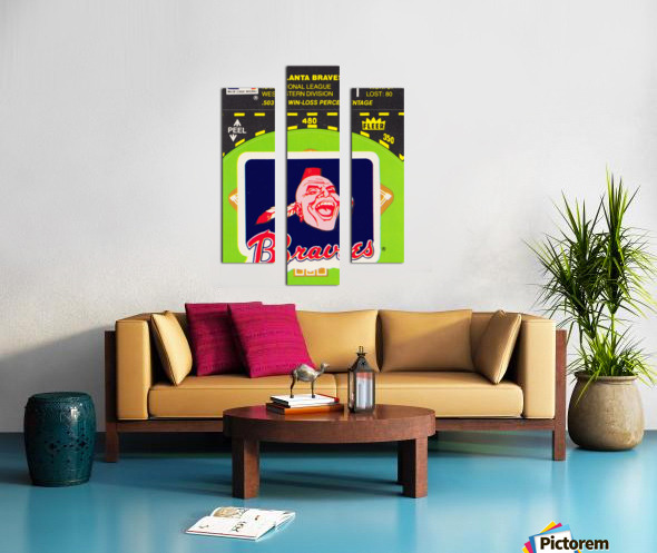 1981 Atlanta Braves Fleer Decal Poster Canvas print