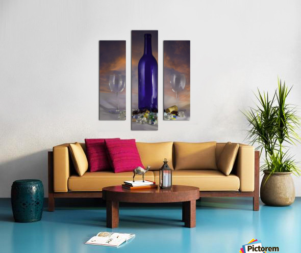 Sunset and Wine Canvas print